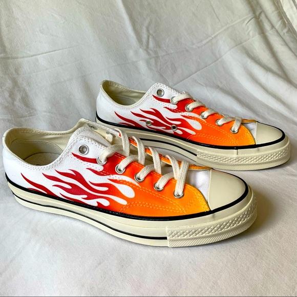 Flame Converse Chuck taylors size 9.5 W 7.5 M